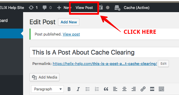 How To Clear The Cache In WordPress